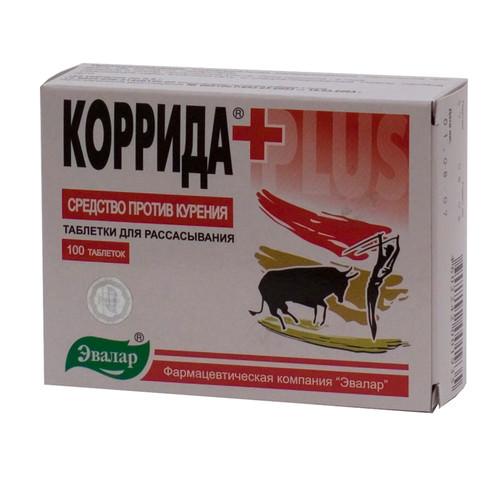 Таблетки от курения Коррида-Плюс