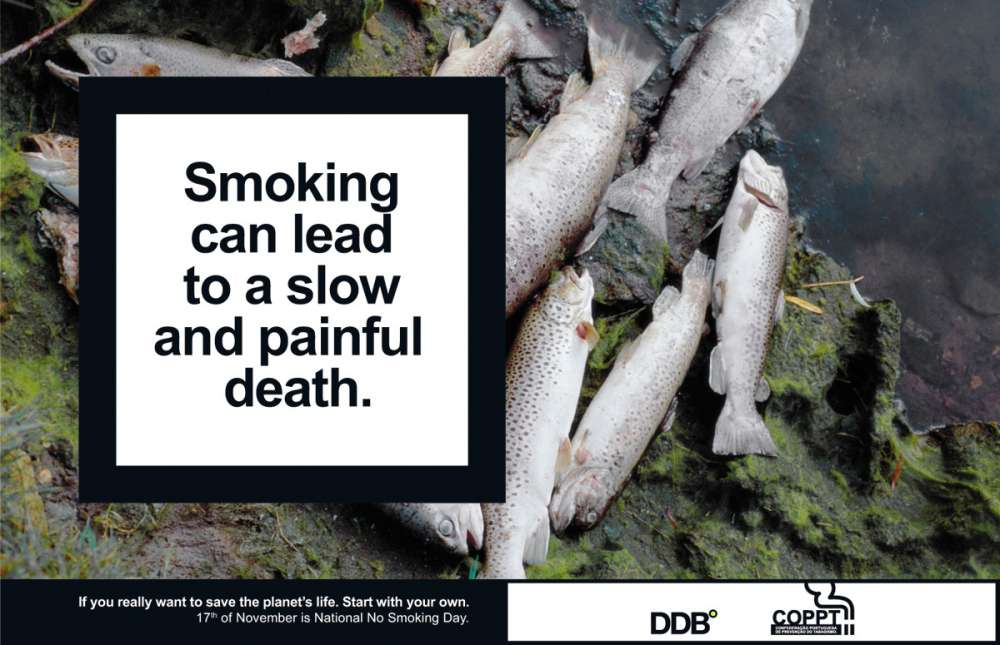 Smoking can lead to a slow and painful death.