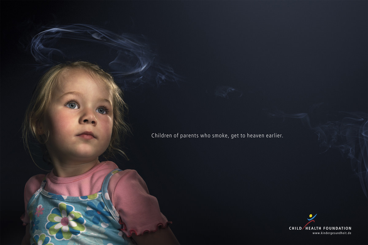 Children of parents who smokes, get to heaven earlier