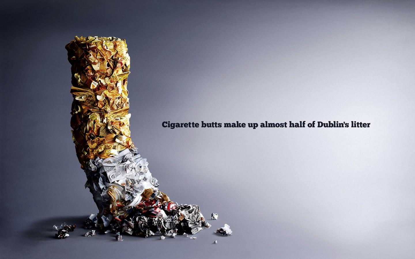 Cigarette butts make up almost half of Dublin`s litter