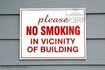 No smoking in vicinity of building