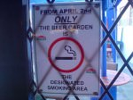 The designated smoking area