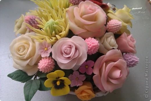 Цветы из холодного фарфора мастер класс своими руками