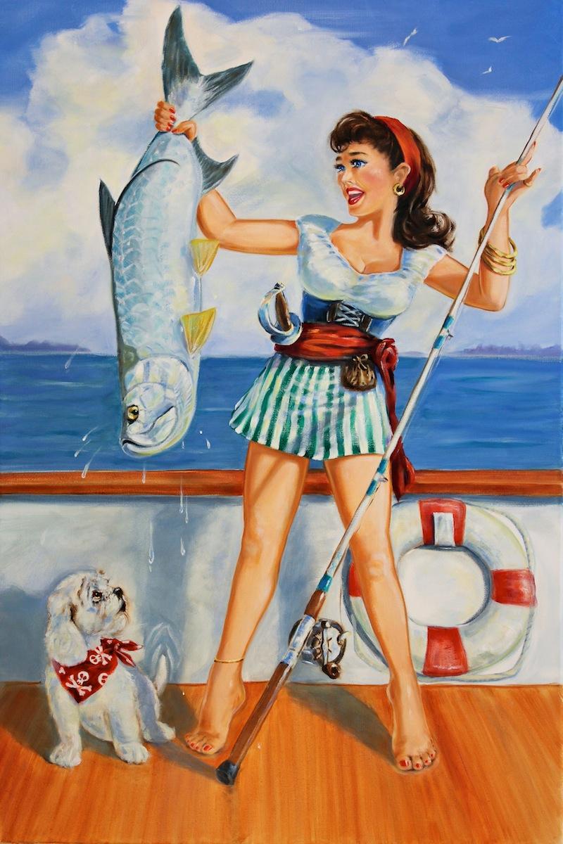 декорированный открытки рыбачка я рыбак моды даже