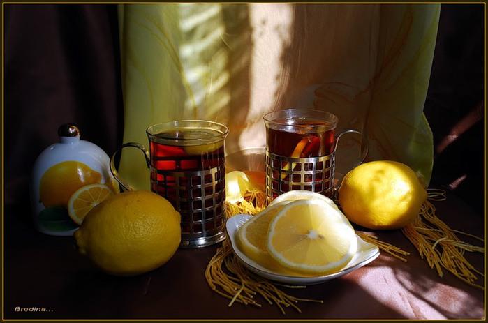 картинки добрый вечер чай с лимоном коллектива является город