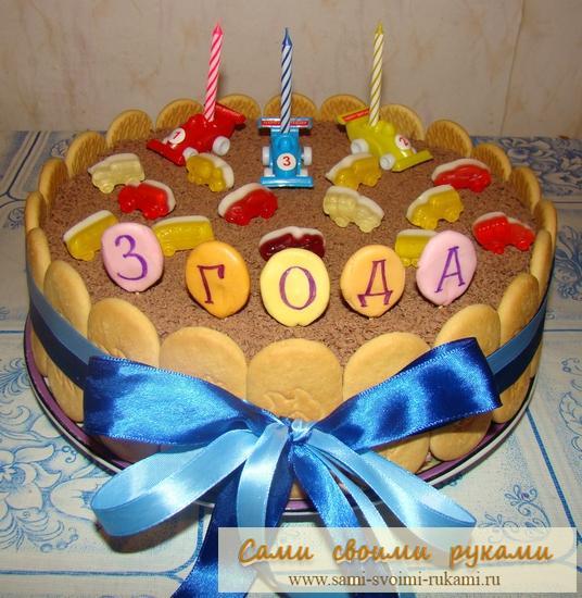 Чем украсить торт на день рождения мальчику