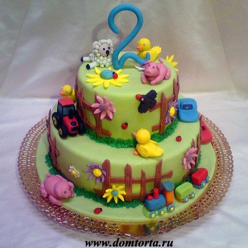 Торт на день рождения 2 годика
