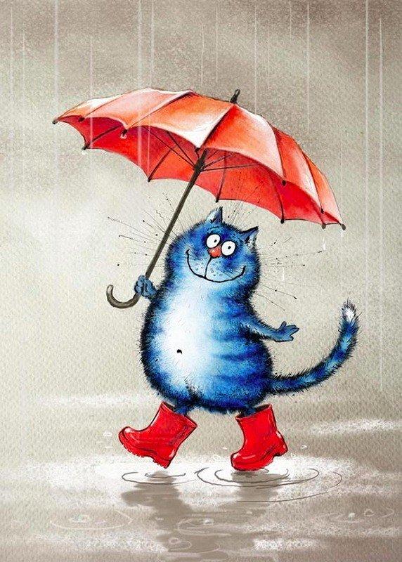 Картинка опять дождь прикольная