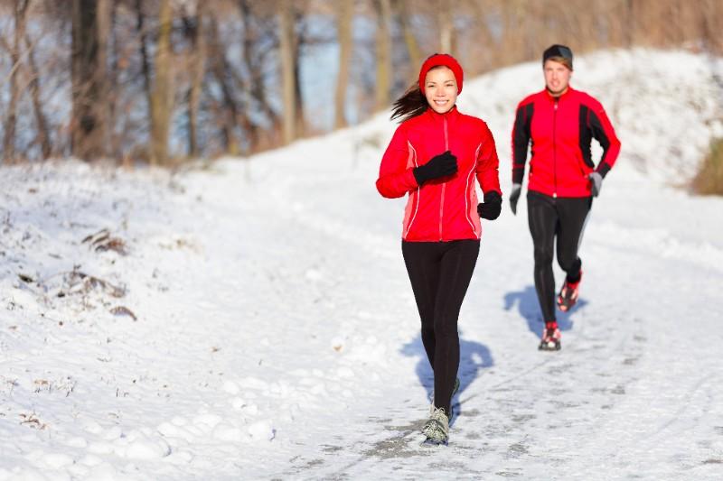 Бег утрам зимой для похудения