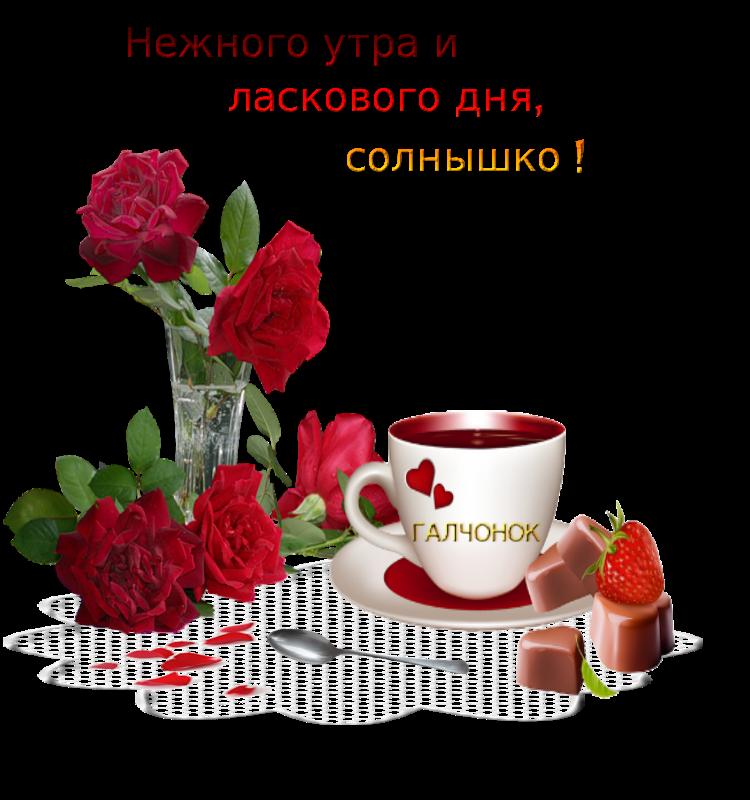 Картинки с добрым утром и хорошего дня для любимой девушки