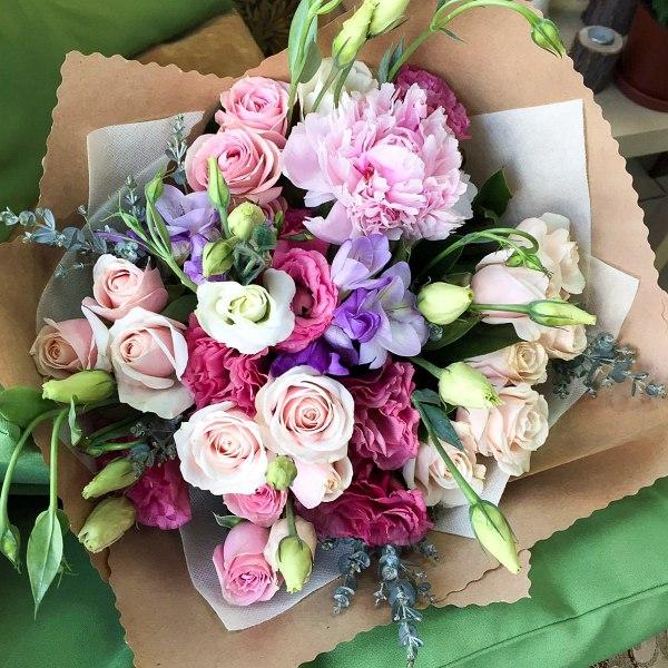 Букеты из цветов в домашних условиях фото