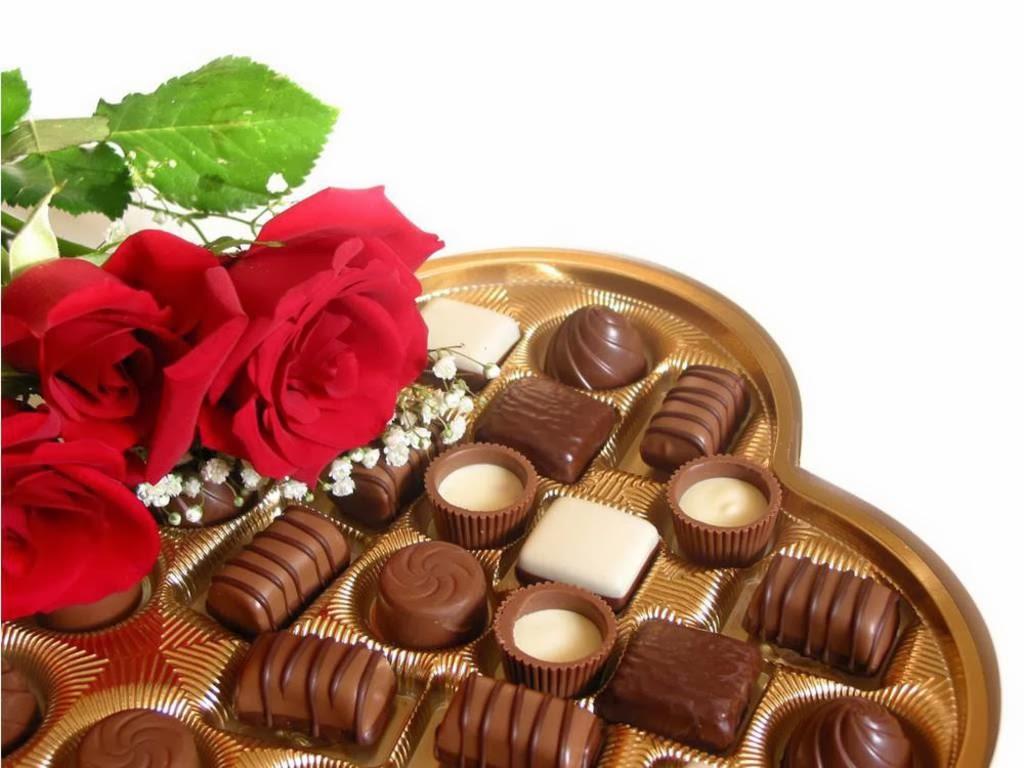 картинки с шоколадными конфетами и цветами особенности