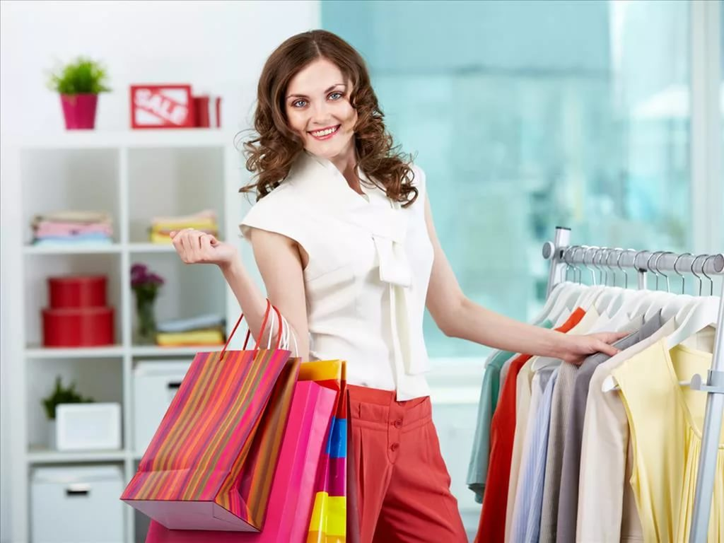 Картинка про покупки одежды