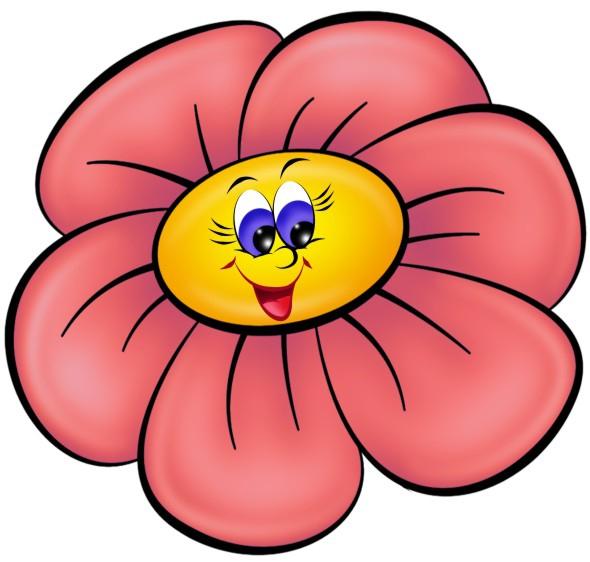 Нарисовать смешные цветочки, днем рождения