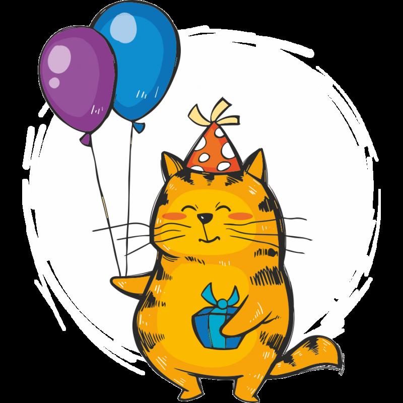 Прикольный кот с днем рождения картинки