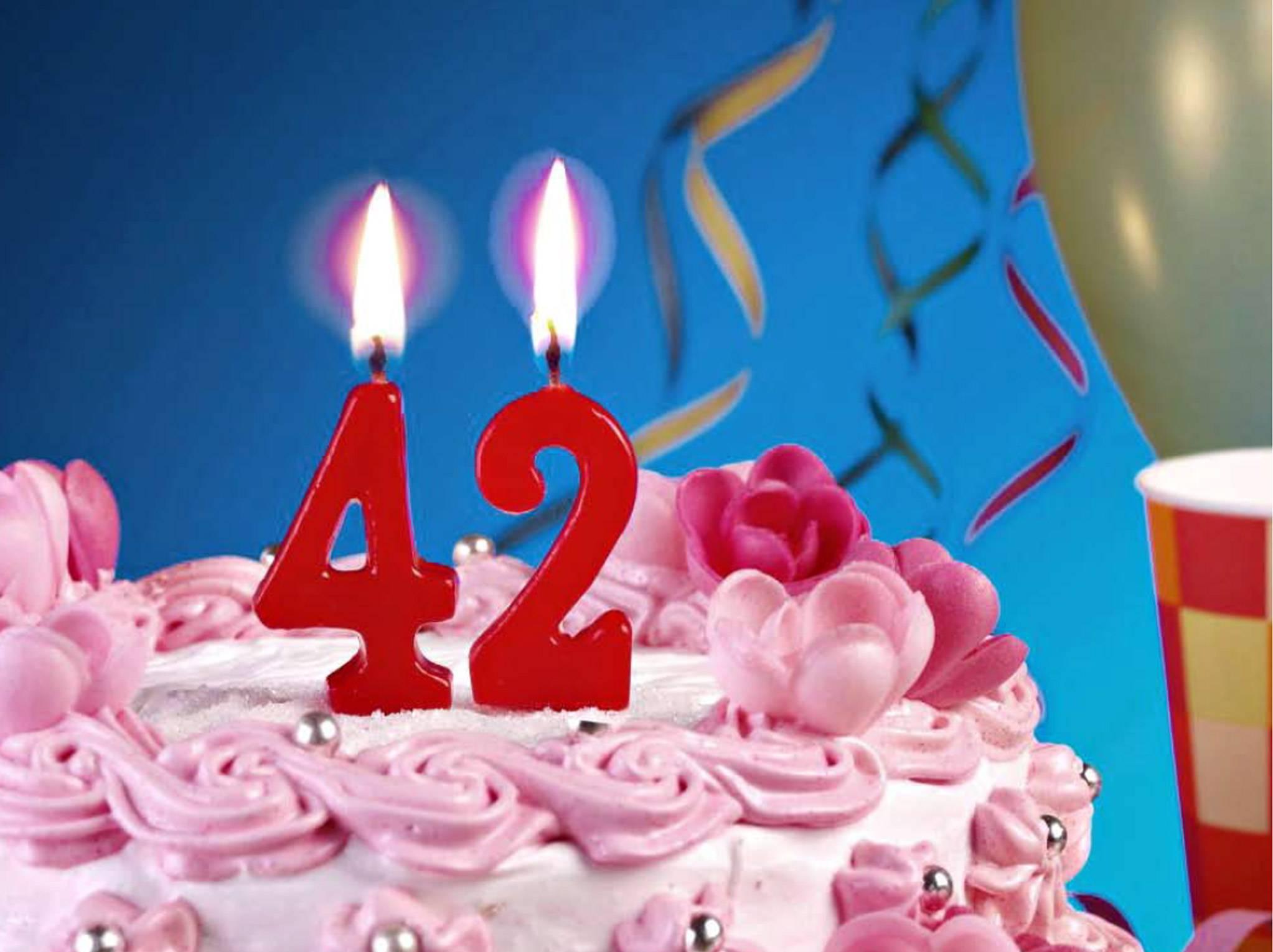 Прикольные поздравления женщине на 42 года