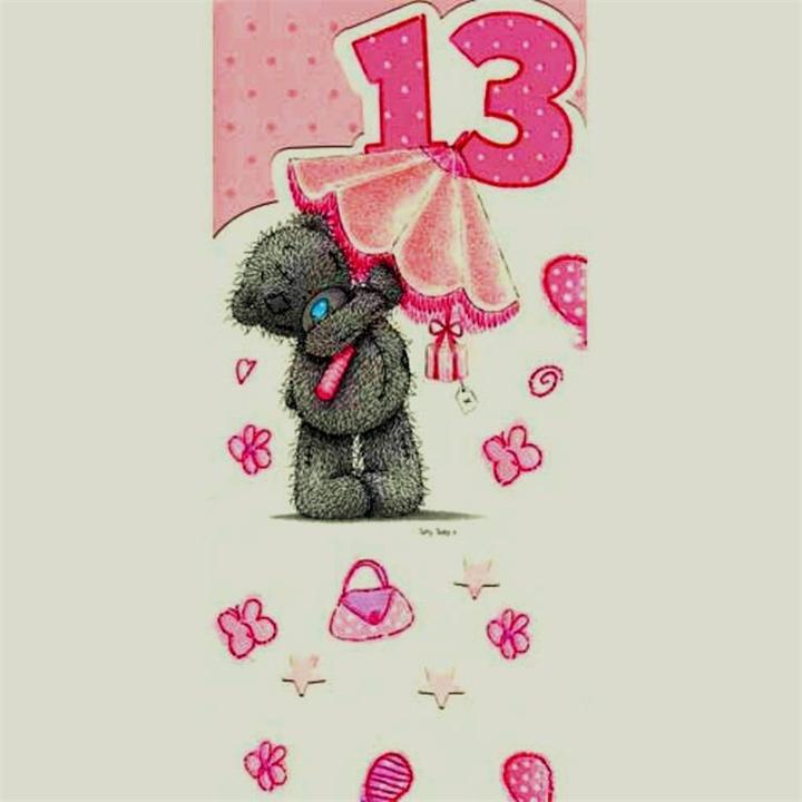 Поздравление для девочки 13 лет картинки
