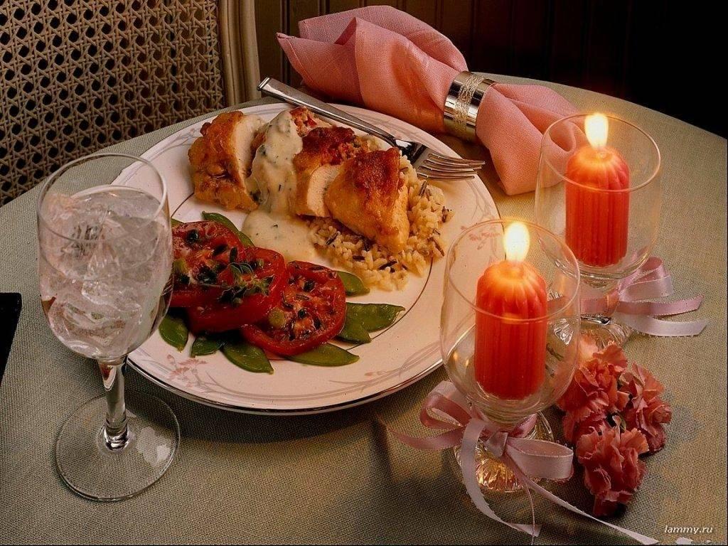 открытка меню ужина мужчине