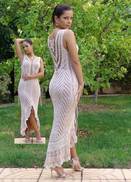 Вяжем своими руками платье фото