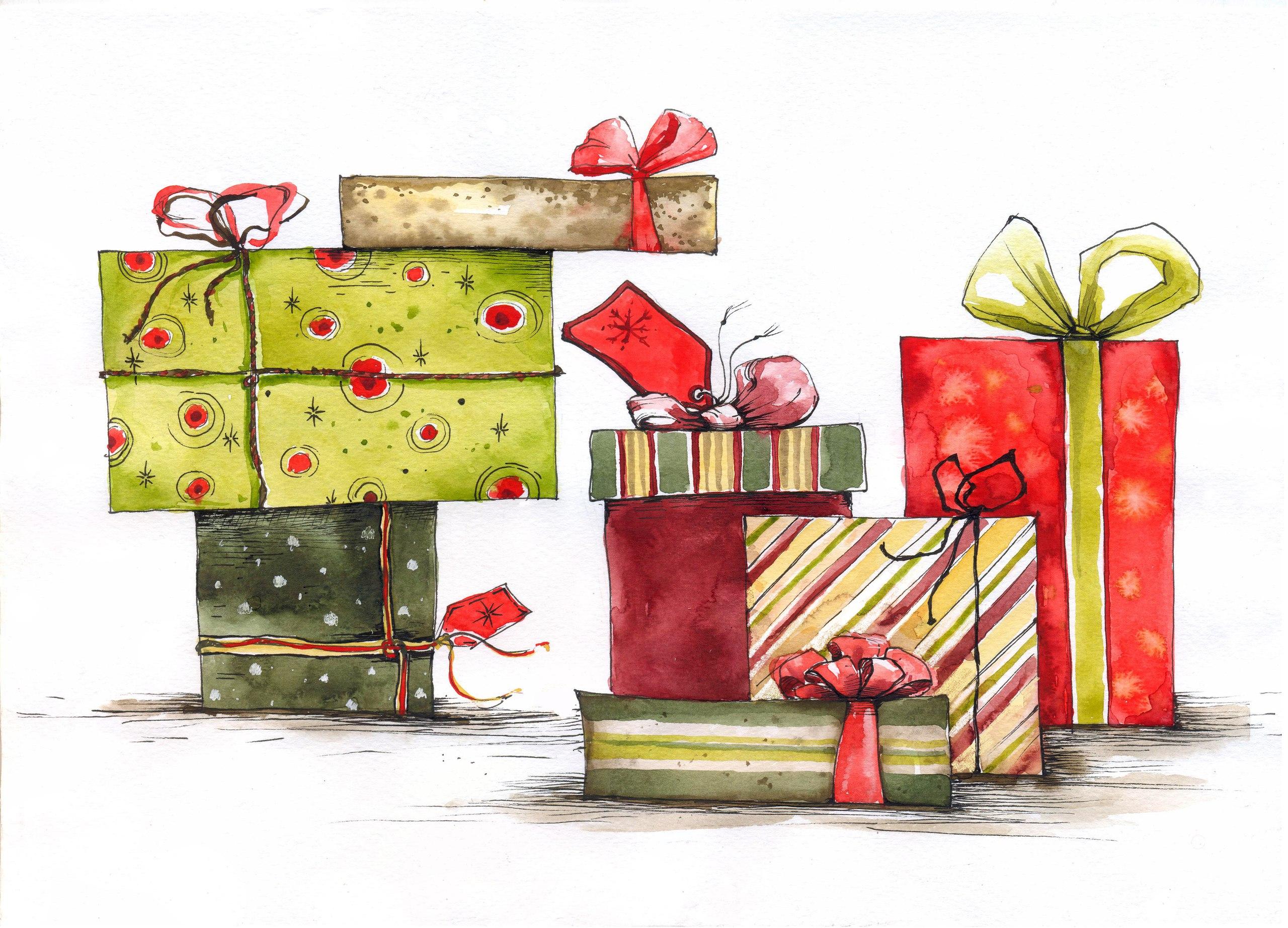 Открытки, открытки с картинками подарков