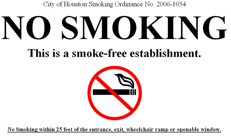 Smoke-free establishment